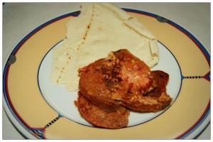 Tomaten mit Pitabrot